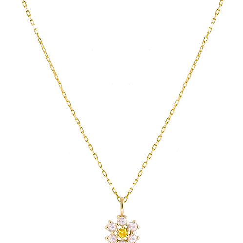 Daisy 18k gold necklace
