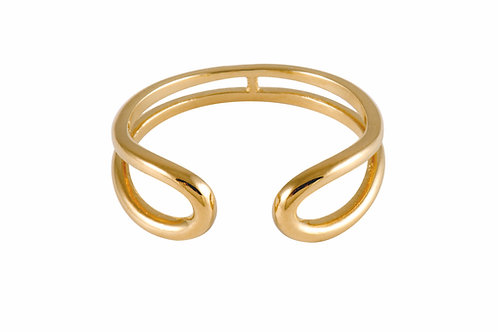 Serpentine  Large ring 18k gold