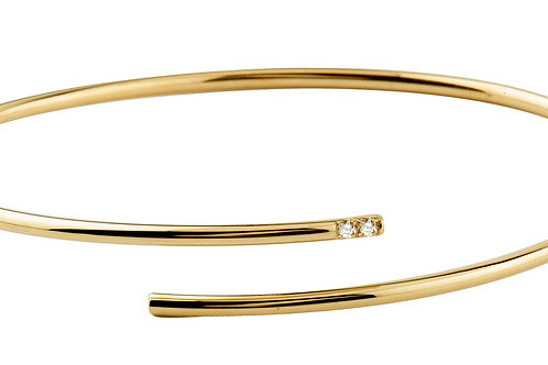 Unlace bracelet diamonds 18kt gold