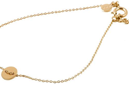 Round bracelet gold plated 925 silver - Bracelet Round argent doré