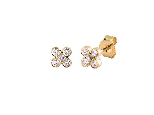 Diamonds As 18k gold earrings