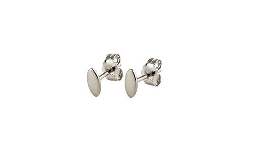 Navette  earrrings 18kt white gold