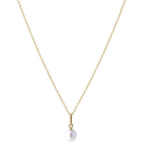 Freshwater pearl necklace 3 18k gold