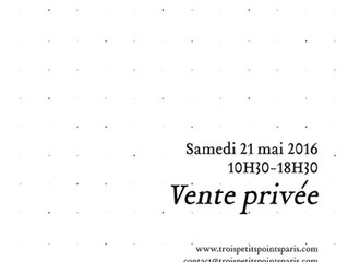 Private sales on saturday may, 21 at 55, rue Notre-dame de Nazareth, Paris, 3e