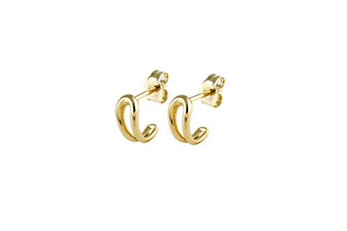 Serpentine earrings 1 gold plated 925 silver