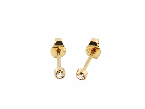 Solitaire earrings diamonds 18kt gold