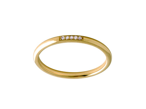 Twig diamonds ring L 18k gold