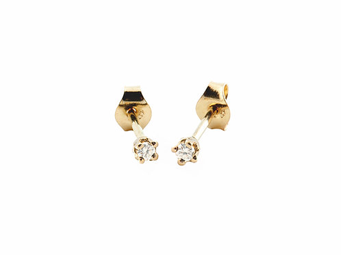 Dear earrings diamonds 18k gold