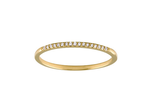 Diamonds Twig 18k gold ring