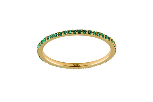 Emeralds Eternity 18k gold ring