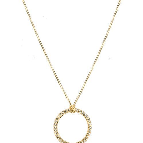 Twig necklace L 18kt gold