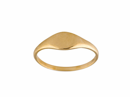 Baby signet ring gold plated 925 silver - Chevalière argent doré