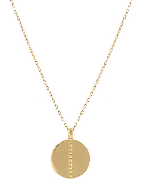 Medaille small 18k gold necklace