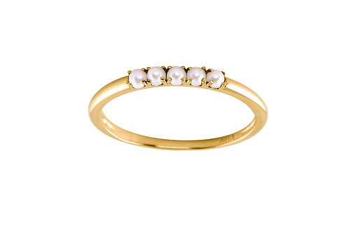 Pearl Five 18k gold ring