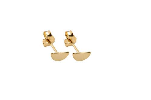 Moon earrings golden brass