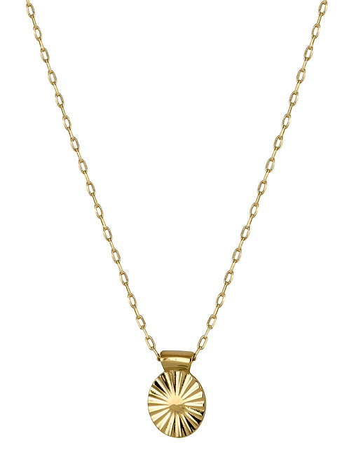 Ellipse necklace 1 golden brass