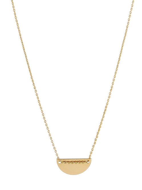 Moon necklace S gold plated 925 silver