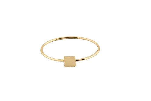 Square ring 18kt gold - Bague Square or 18ct