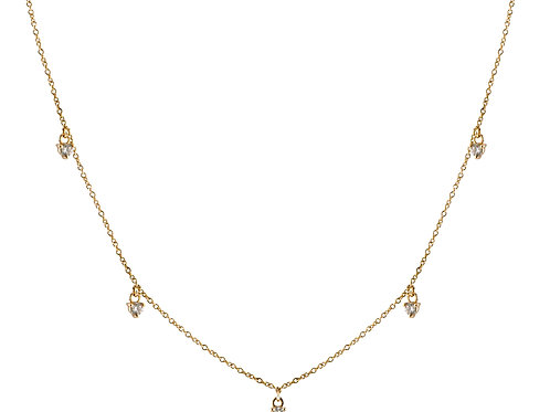 Five diamonds necklace 18k gold