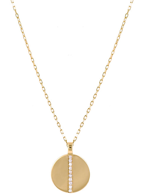 Diamonds Medaille 18k gold necklace