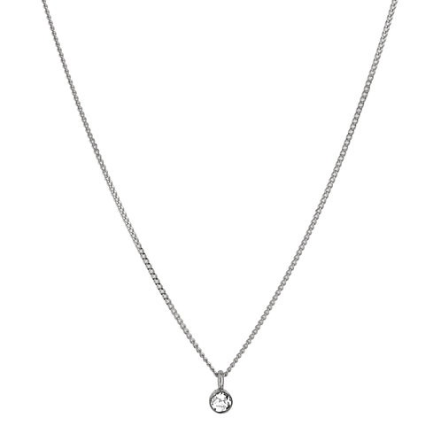 Solitaire diamond necklace 2 18kt gold
