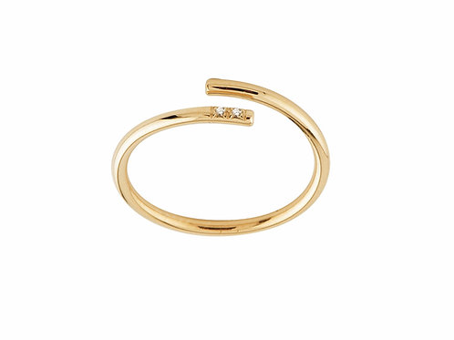 Unlace ring diamonds 18kt gold