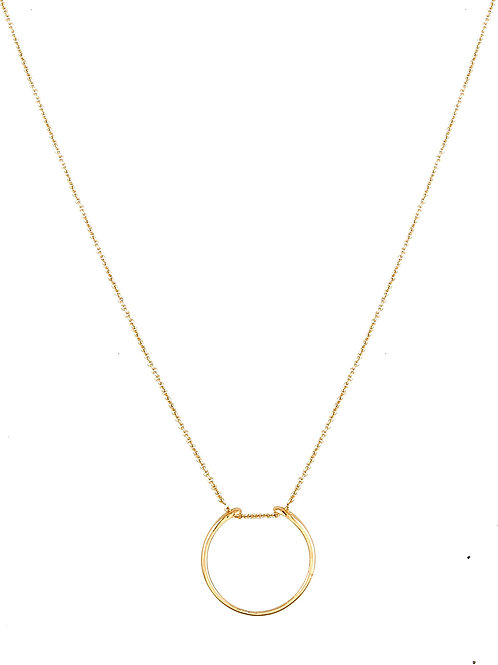 Serpentine necklace golden brass
