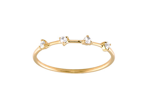 Diamonds Gradient 18k gold ring