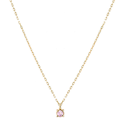 Only pink tourmaline necklace S 18kt gold