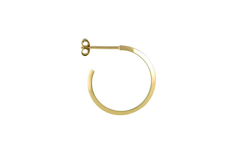 Theorem hoop earrings gold plated 925 silver