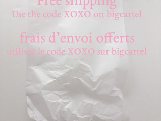 Free shipping on bigcartel