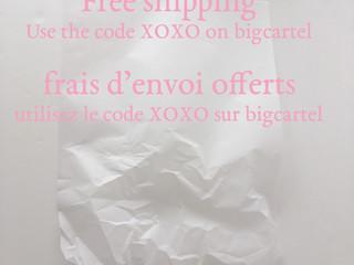 Free shipping on bigcartel
