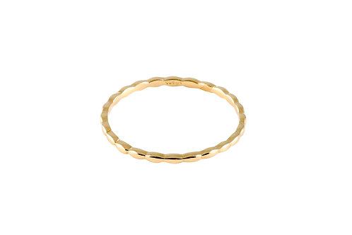 Navette ring 1 golden brass