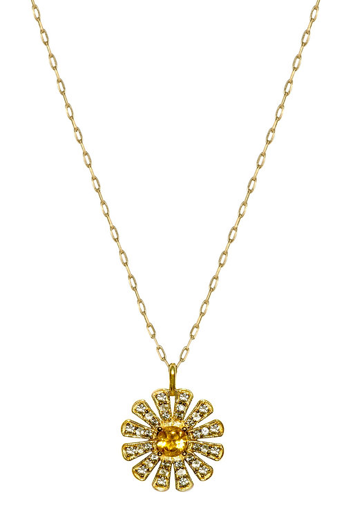 Daisy queen 18k gold necklace