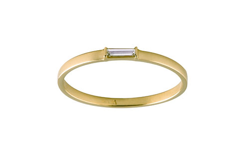 Tip-cat diamond ribbon ring 18k gold