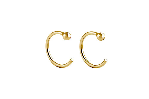 Ring hoop earrings 18k gold