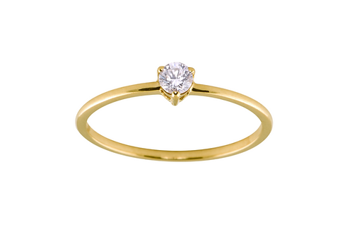 Diamond medium Solitaire 18k gold ring
