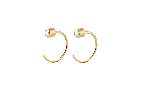 Boreal freshwater pearls earrings gold plated 925 silver
