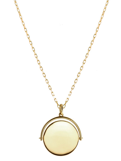 Heads or tails 18k gold necklace