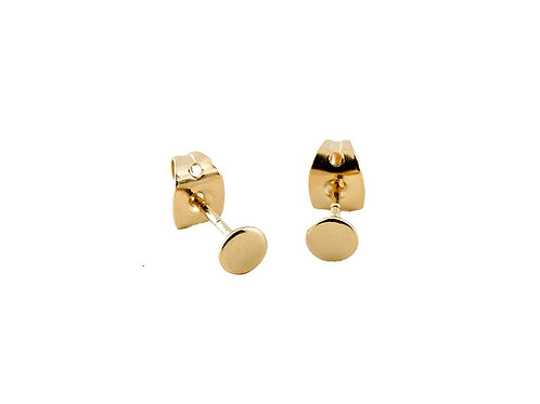 Round earrings 18k gold