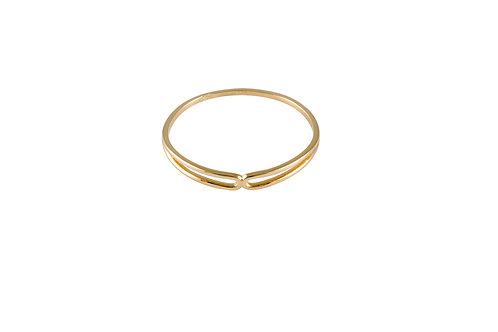 Serpentine ring 3 golden brass
