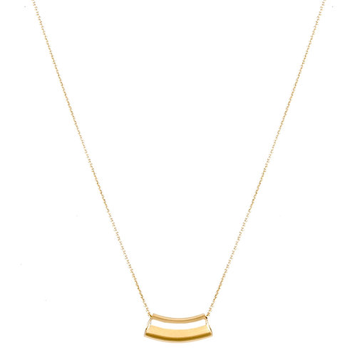 Wave necklace L gold plated 925 silver