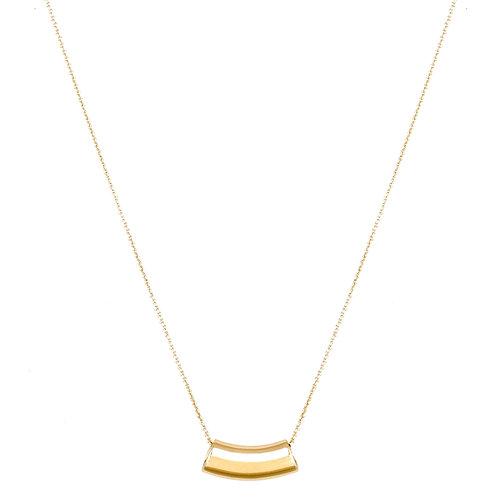 Wave necklace L 18k gold