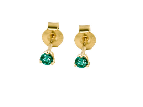 Emeralds 18k gold stud earrings