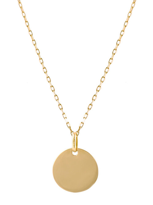 Medaille large 18k gold necklace