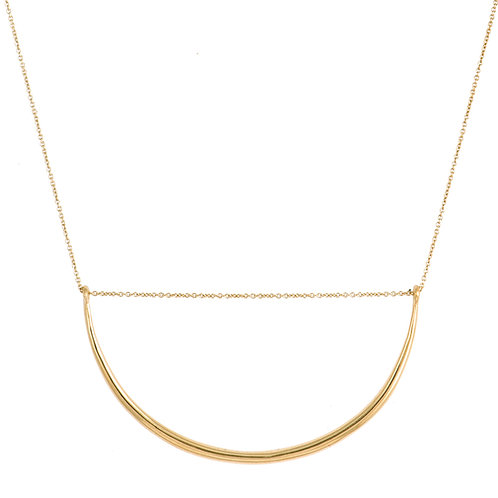Curve necklace 1 golden brass