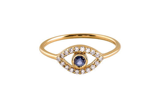 Blue Eye 18k gold ring