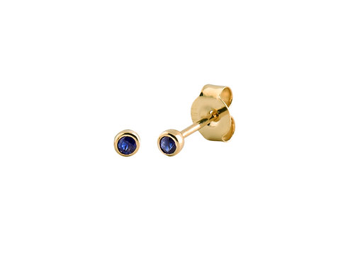 Blue sapphires One gold earrings