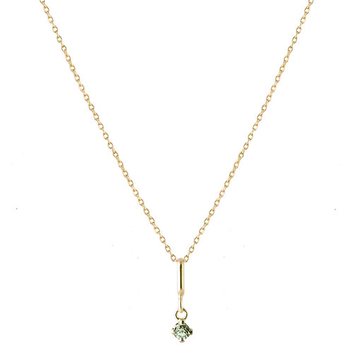 Constellation green sapphire necklace 18k gold