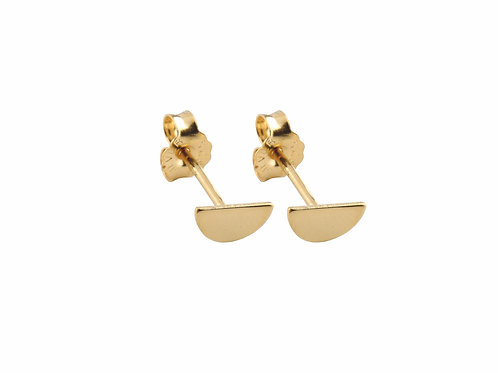 Moon earrings 18k gold